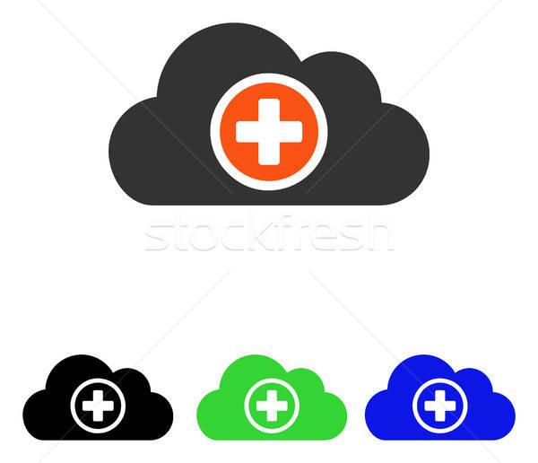雲 ベクトル アイコン 絵文字 実例 ストックフォト © ahasoft