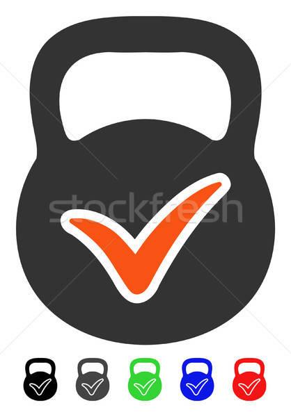 Geldig massa icon vector pictogram gekleurd Stockfoto © ahasoft