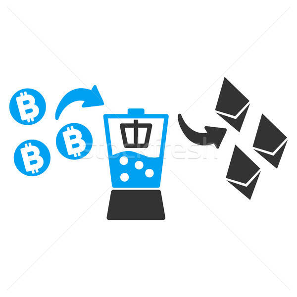 Bitcoin Ethereum Mixer Flat Icon Stock photo © ahasoft