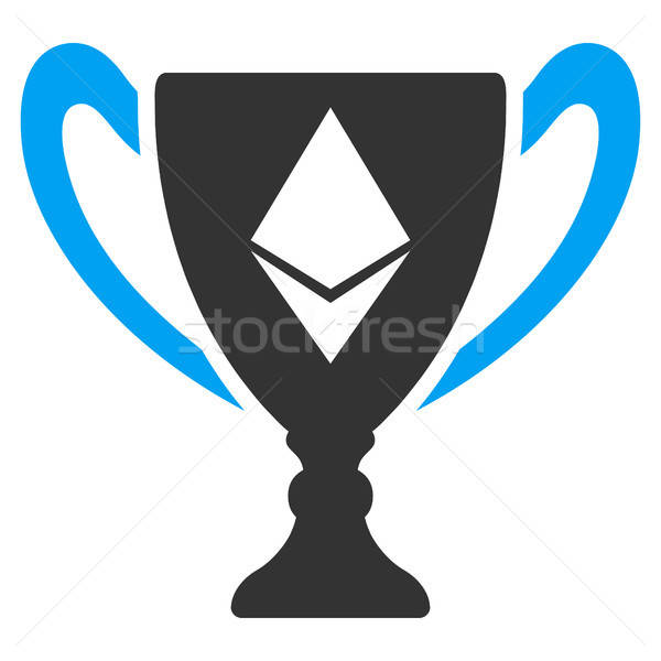Ethereum Award Cup Flat Icon Stock photo © ahasoft