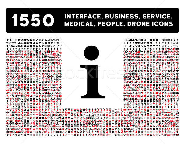 Info Icon and More Interface, Business, Tools, People, Medical, Awards Flat Vector Icons Stock photo © ahasoft