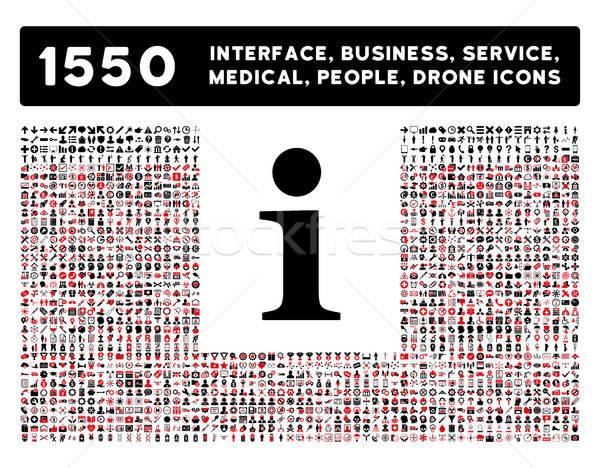 информации икона больше интерфейс бизнеса инструменты Сток-фото © ahasoft