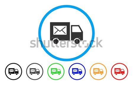Mail icon grijs pictogram symbool Stockfoto © ahasoft