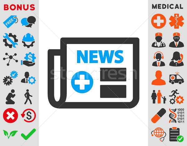 Medical Newspaper Icon Stock photo © ahasoft