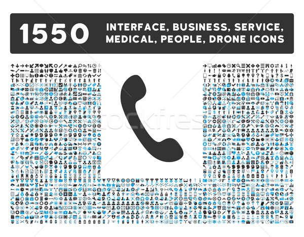 Telefon ikon több interfész üzlet szerszámok Stock fotó © ahasoft