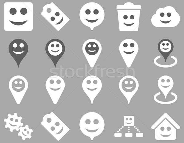 ツール 喜怒哀楽 笑顔 地図 アイコン セット ストックフォト © ahasoft