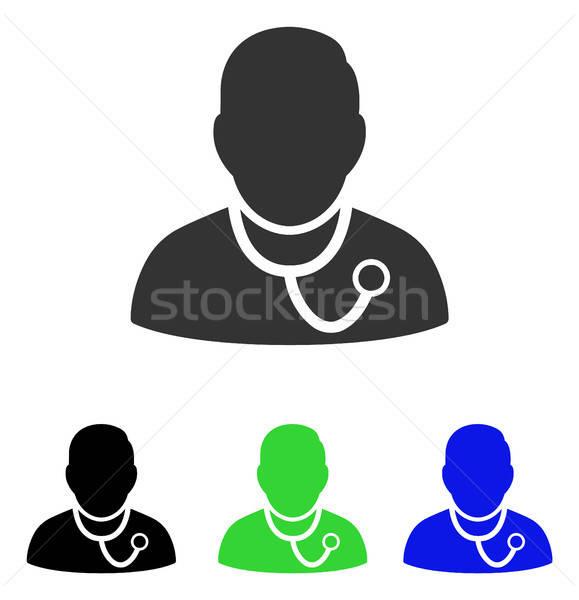 Medic Flat Vector Icon Stock photo © ahasoft
