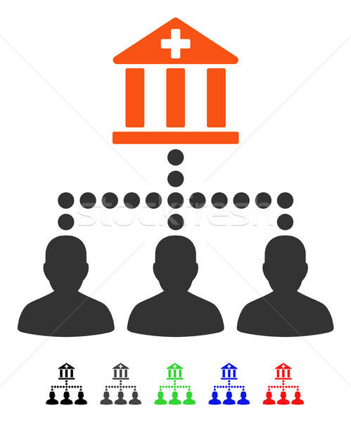 Medical Bank Clients Flat Icon Stock photo © ahasoft