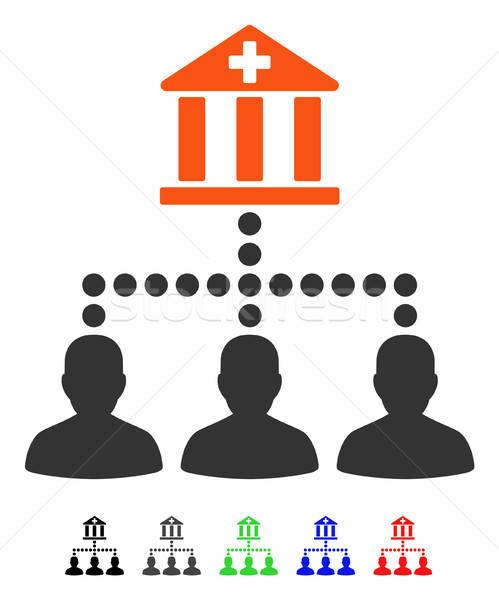 Medici banca clienti icona vettore colorato Foto d'archivio © ahasoft