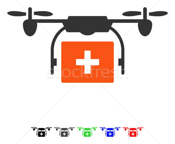 Medical Drone Shipment Flat Icon Stock photo © ahasoft