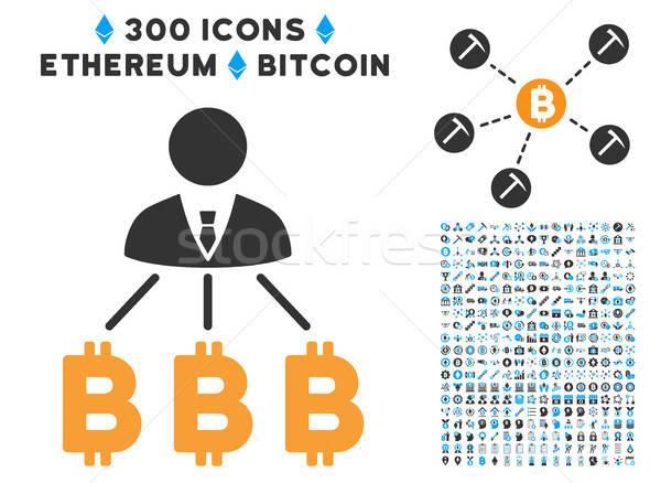Zakenman bitcoin icon smart contract Stockfoto © ahasoft