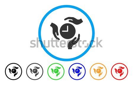 Fecha tope fuego icono gris pictograma símbolo Foto stock © ahasoft