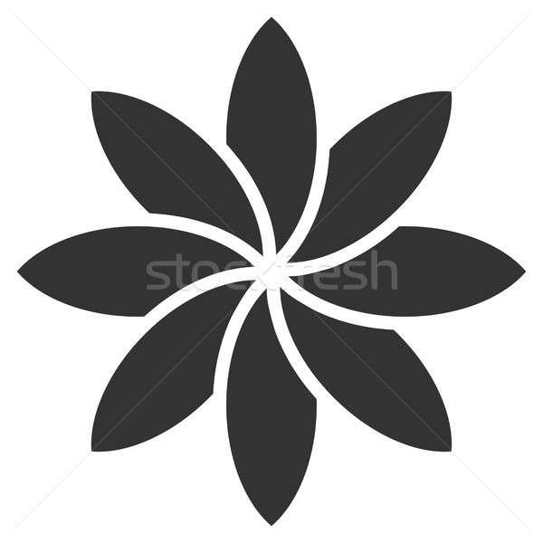 Abstrato flor ícone pictograma estilo gráfico Foto stock © ahasoft