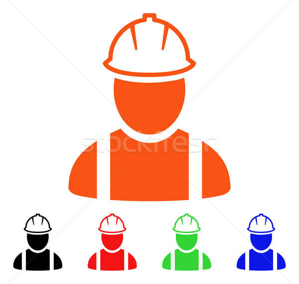 Worker Vector Icon Stock photo © ahasoft