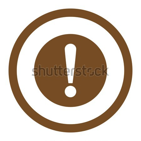 Exclamation Sign flat black color rounded vector icon Stock photo © ahasoft