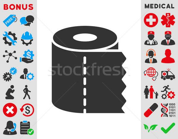 Papel higiênico rolar ícone vetor estilo símbolo Foto stock © ahasoft