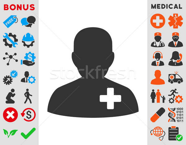 Medical Volunteer Icon Stock photo © ahasoft