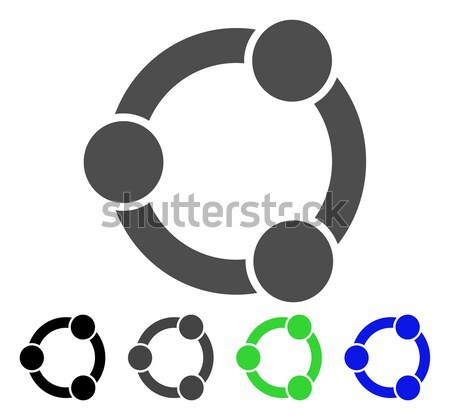 Collaboration Flat Vector Icon Stock photo © ahasoft
