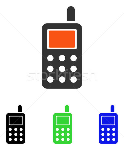 Cell Phone Flat Vector Icon Stock photo © ahasoft