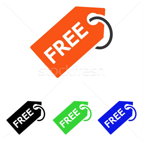 Free Tag Flat Vector Icon Stock photo © ahasoft