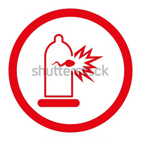 Sperma ontsnappen condoom vector icon illustratie Stockfoto © ahasoft