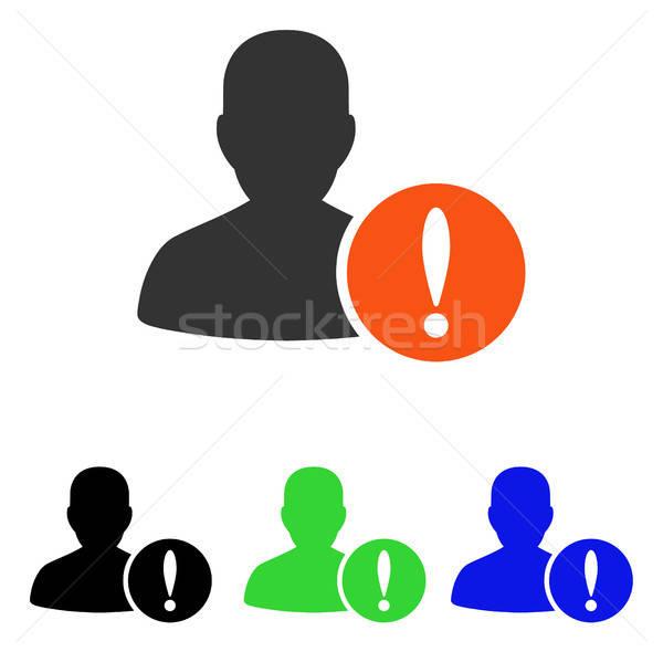 Patiënt probleem vector icon illustratie stijl Stockfoto © ahasoft