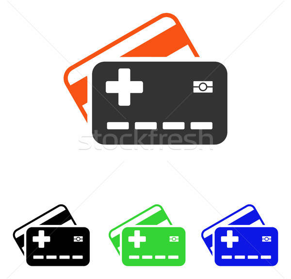 Medical Insurance Cards Flat Vector Icon Stock photo © ahasoft