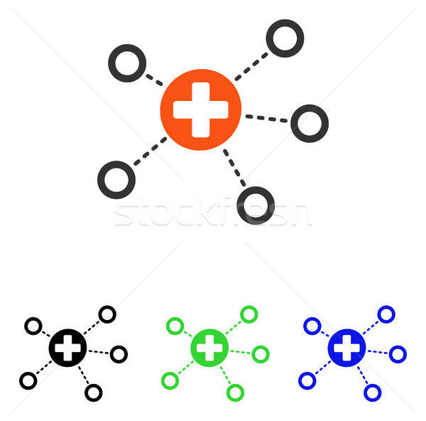 Medical Links Flat Vector Icon Stock photo © ahasoft