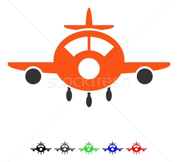 Aircraft Flat Icon Stock photo © ahasoft