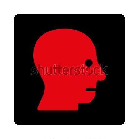 Paciente cabeça ícone vetor pictograma Foto stock © ahasoft