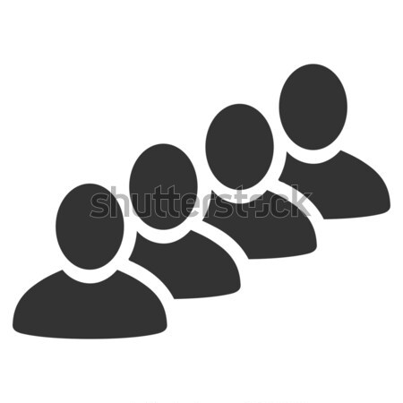 User Queue Flat Icon Stock photo © ahasoft