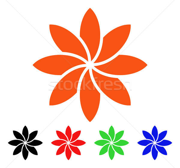 Abstract bloem vector icon bloem stijl Stockfoto © ahasoft