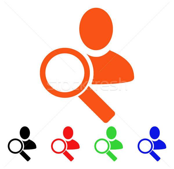 Bulmak kullanıcı vektör ikon stil ikonik Stok fotoğraf © ahasoft