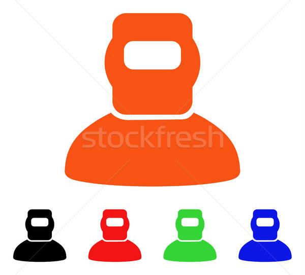 Hegesztő vektor ikon stílus ikonikus szimbólum Stock fotó © ahasoft