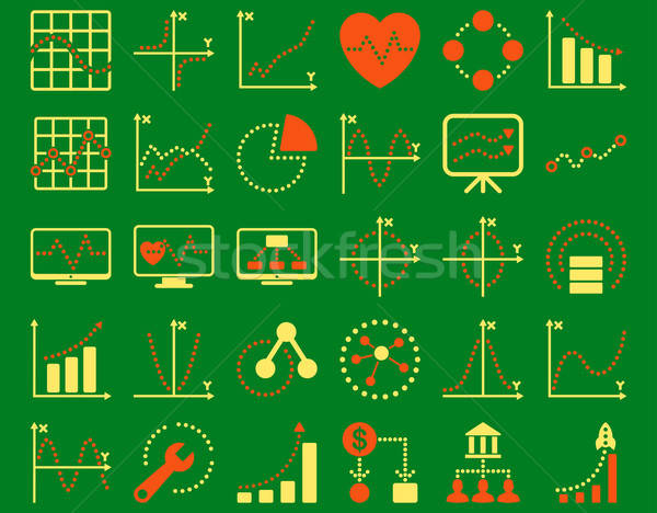 Dotted Charts Icons Stock photo © ahasoft