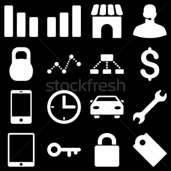 基本 ビジネス アイコン シンボル 白 色 ストックフォト © ahasoft
