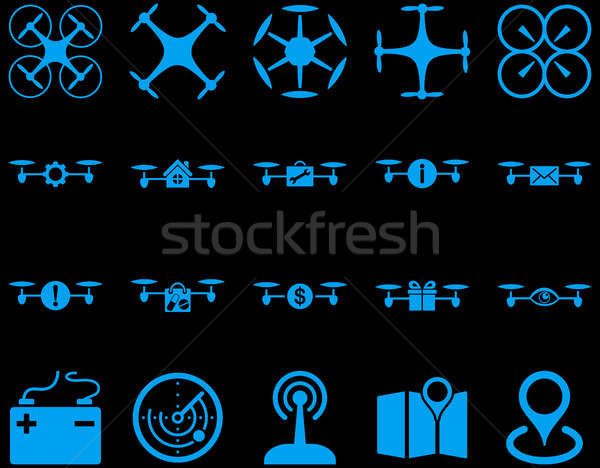 Air drone and quadcopter tool icons Stock photo © ahasoft