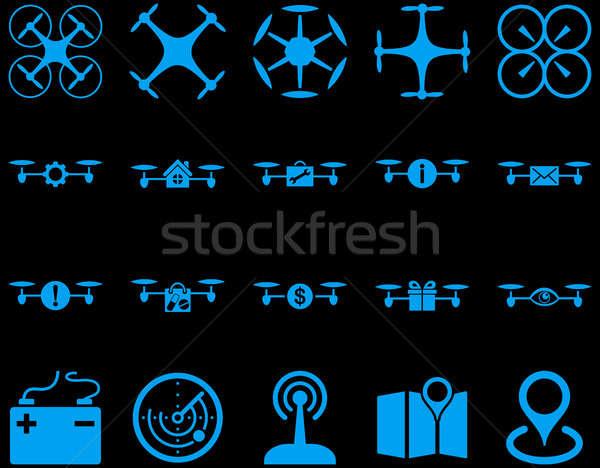 Lucht tool iconen stijl Stockfoto © ahasoft