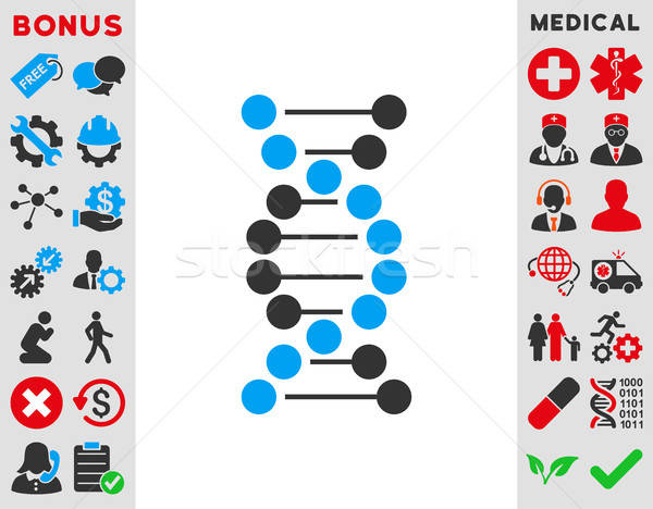 Dna Spiral Icon Stock photo © ahasoft