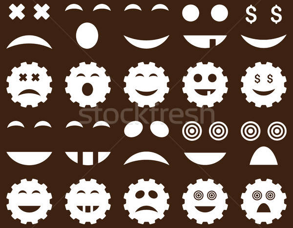 Tool, gear, smile, emotion icons Stock photo © ahasoft