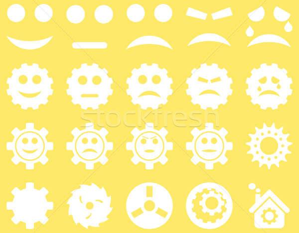 инструменты улыбка передач иконки набор стиль Сток-фото © ahasoft