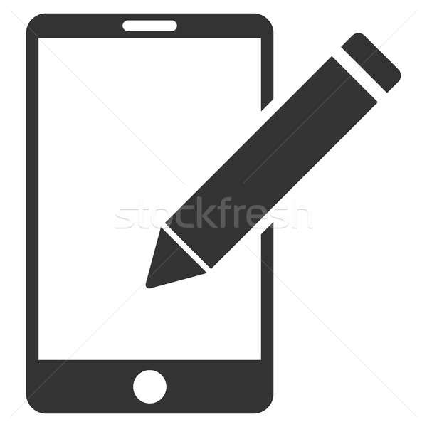 Smartphone Edit Pencil Flat Raster Icon Stock photo © ahasoft
