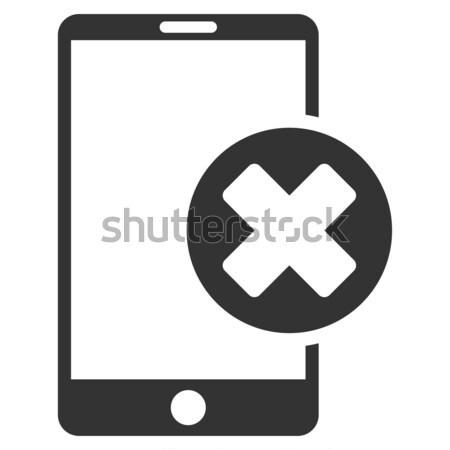 Errado ícone cinza símbolo pictograma Foto stock © ahasoft