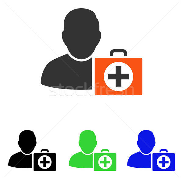 First Aid Man Flat Vector Icon Stock photo © ahasoft