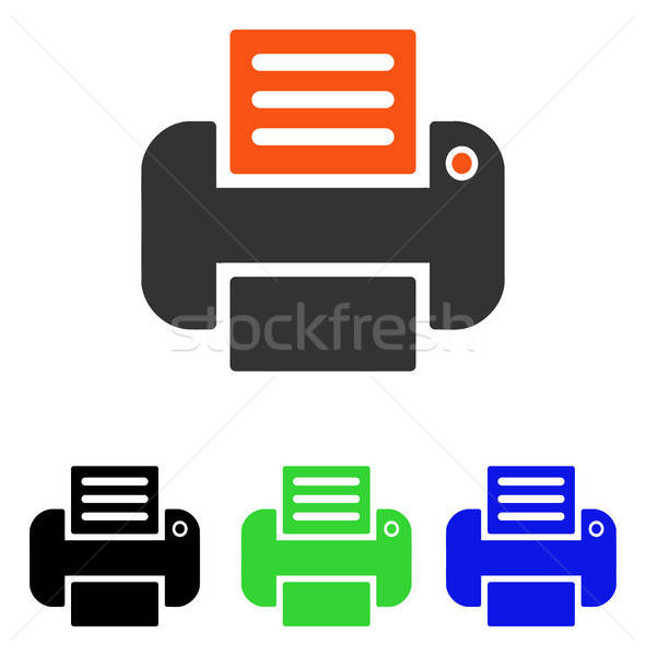 Print Flat Vector Icon Stock photo © ahasoft