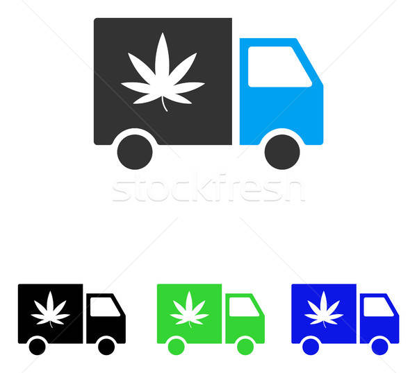 Cannabis Delivery Van Flat Vector Icon Stock photo © ahasoft