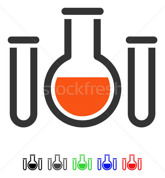 Chemical Vessels Flat Icon Stock photo © ahasoft