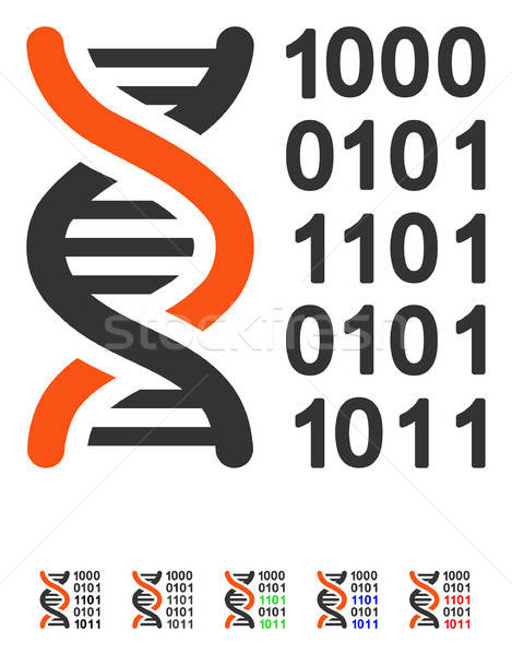 Genetical Code Flat Icon Stock photo © ahasoft