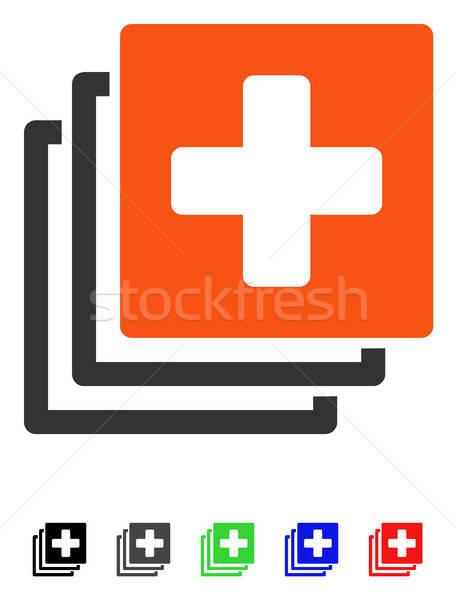 Médico documentos ícone cor preto Foto stock © ahasoft