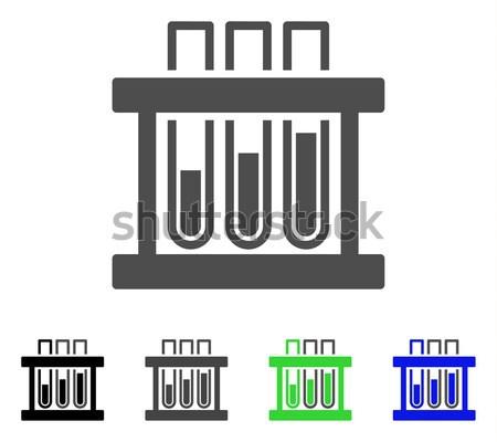 Stockfoto: Test · icon · vector · gekleurd · kleur